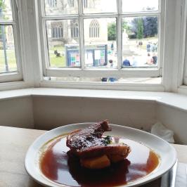 Exeter Tea on the Green Sunday Roast window