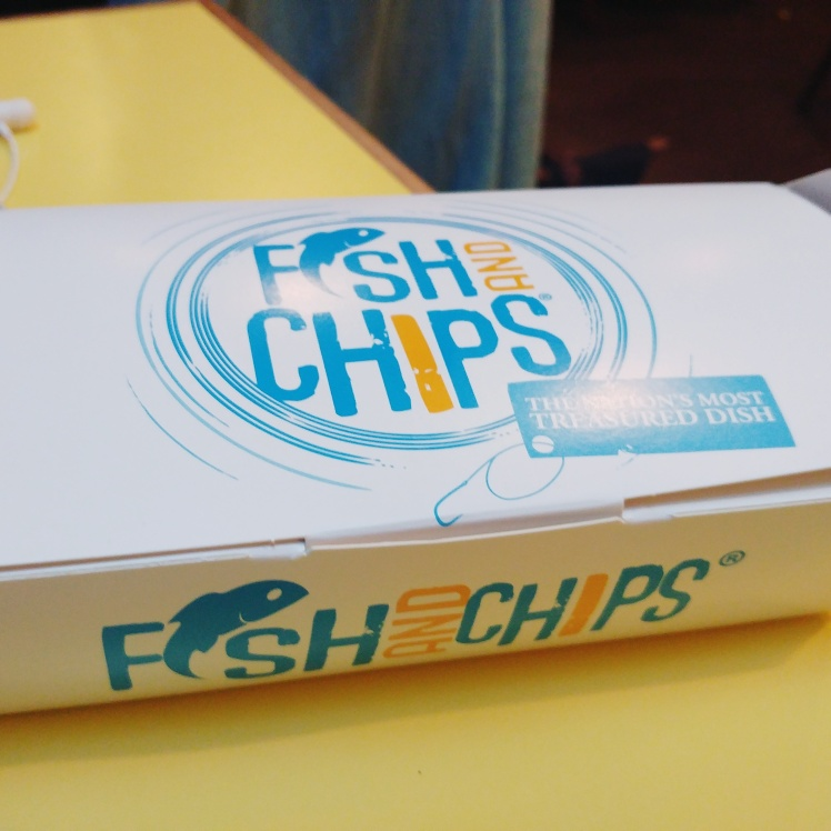 Golden Union Fish and Chips takeaway box
