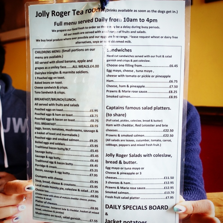 Jolly Roger Tea Room in Exeter Food Menu 2