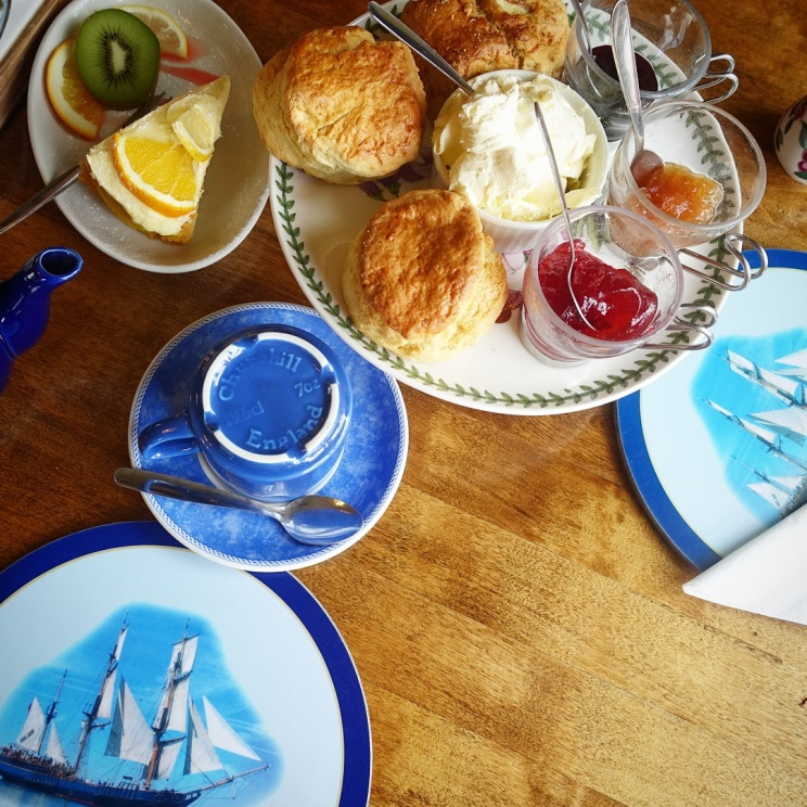 Jolly Roger Tea Room in Exeter Scones and Cake