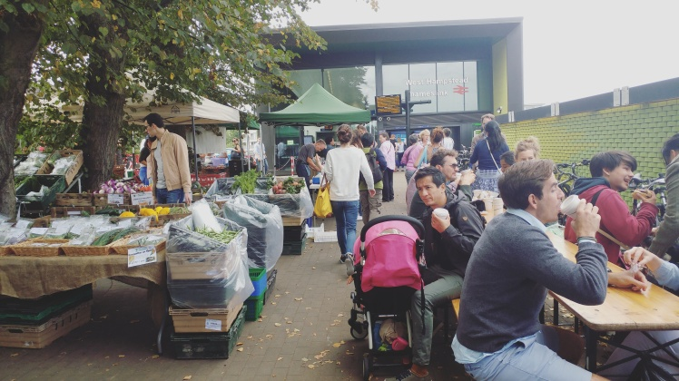 West Hampstead Farmers Market Outside of Thameslnk